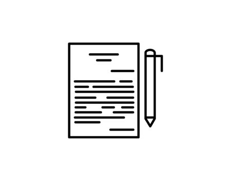Contract thin line icon agreement and signature vector image
