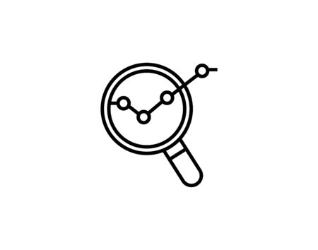 Business analysis icon vector image  イラスト・ベクター素材