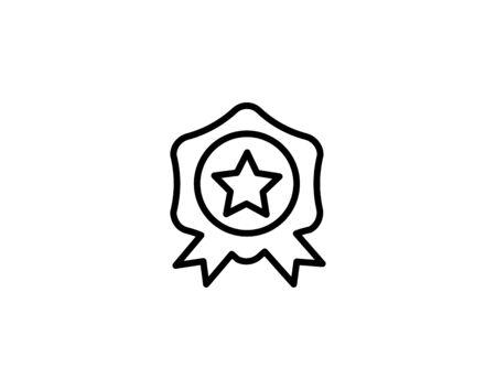 Award vector icon illustration sign