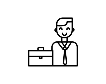 Businessman icon in simple black design vector image