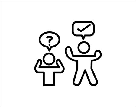 Question solution  icon vector illustration.