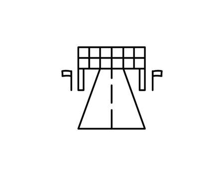Finish line icon outline style vector image Ilustração