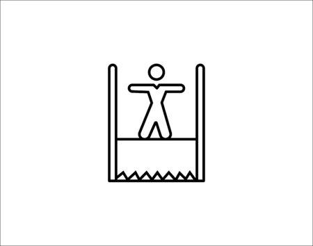 risk work icon vector illustration.