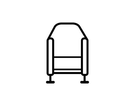 Sofa line icon vector image