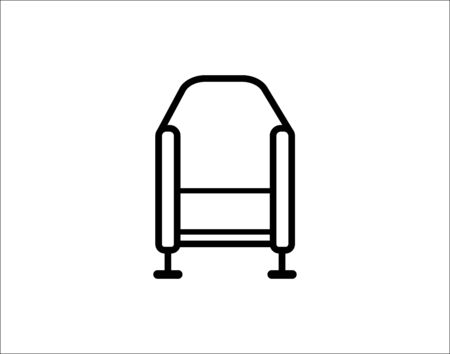 TV chair isolated icon vector image Illusztráció