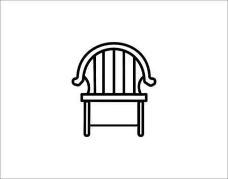 Chair line icon furniture and interior vector image Ilustracja
