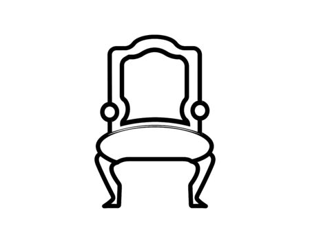Chair line icon vector image  イラスト・ベクター素材