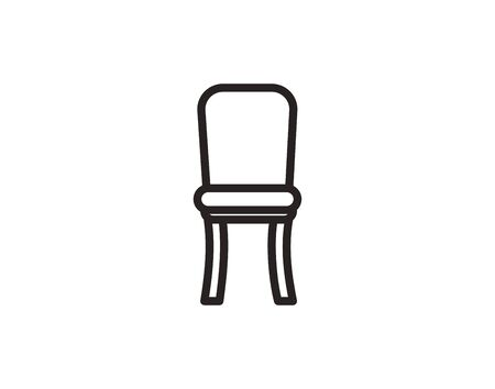 Chair line icon furniture and interior vector image Ilustração