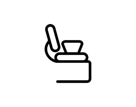 Office chair simple icon vector image