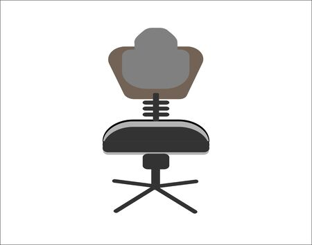 Chair office furniture front icon graphic vector image