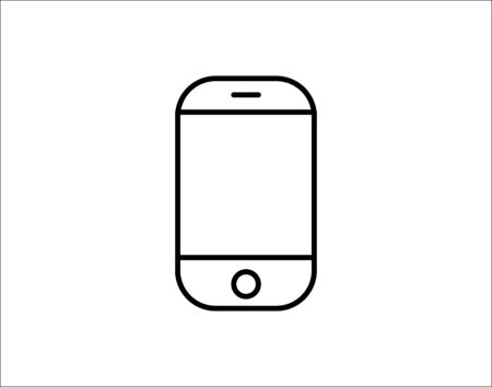Smartphone line icon web and mobile mobile phone vector image