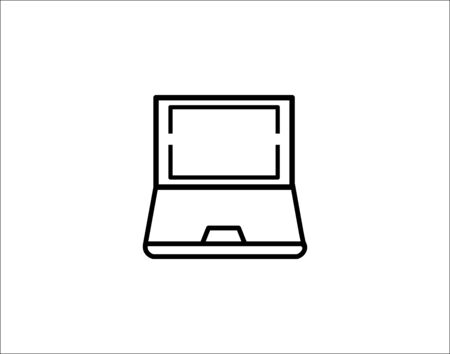 Laptop icon in trendy flat style isolated on grey vector image Ilustracja