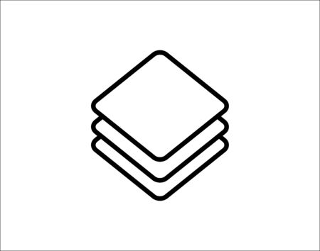 Layers icon vector image