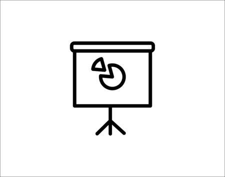 Presentation board line icon linear vector image