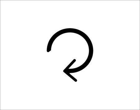 Refresh icon line sync symbol vector image