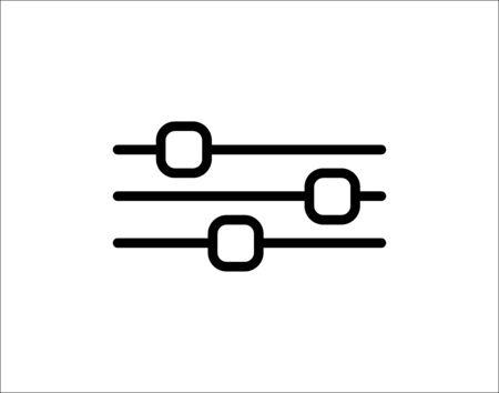 FILTER ICON VECTOR IN LINE STYLE Ilustração