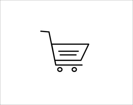 trolley vector icon flat style graphical symbol.