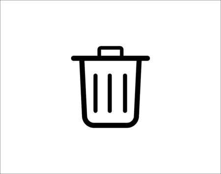Trash can icon image vector image