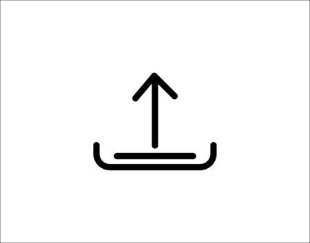 Upload arrow icon vector image