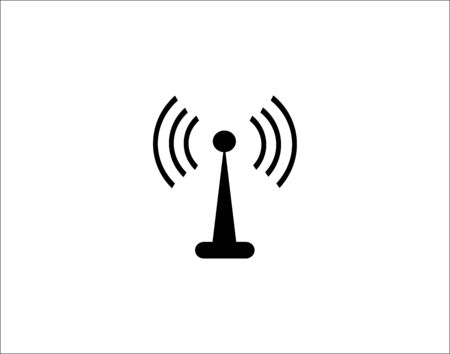 A tower icon for transferring wifi and radio waves vector image