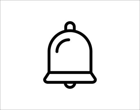 Bell line icon vector image Ilustração