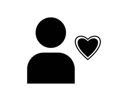 user favourites heart icon vector image