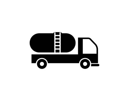 Gas fuel truck flat icon vector image