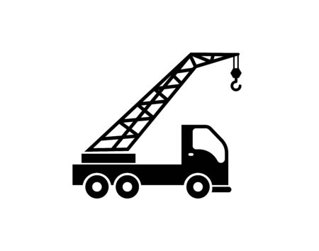 Truck mounted crane icon simple style vector image