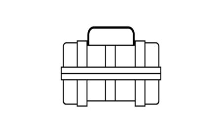 toolbox icon illustration isolated vector sign symbol used for website. Иллюстрация