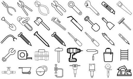 Equipment maintenance Icon set, contruction and repair icon pack, new design and modern style, ready to web and print