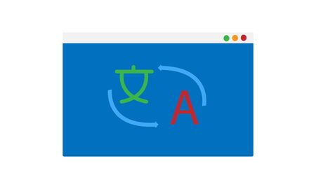 Language translation or translate service flat vector icon for apps and websites