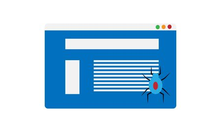internet bot, web crawler colorful icon.