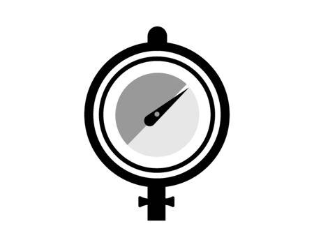 Sensor de presión manómetro aislado vector de la imagen