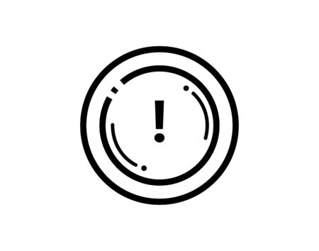 Exclamation mark icon on white background vector image