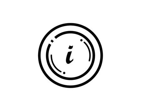 Information line icon simple minimal pictogram vector image