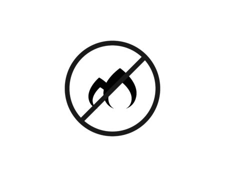Dont fire prohibition sign vector image Ilustracja