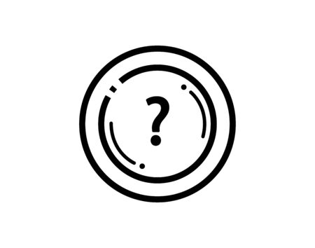 The question mark in a circle icon vector image Ilustrace