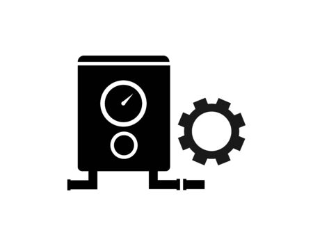Boiler installation icon outline style vector image