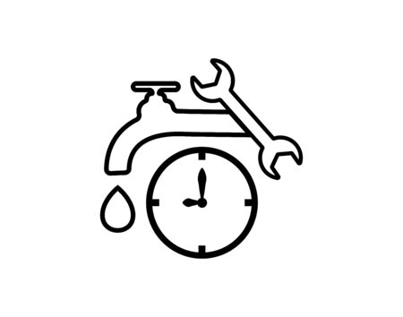 Emergency plumbing icon- vector