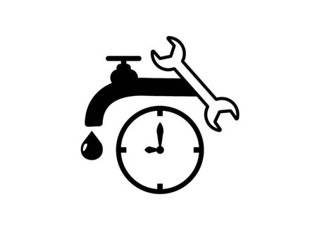 Emergency plumbing icon- vector