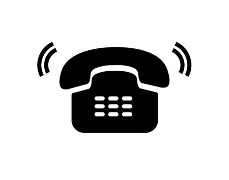 old telephone ringing icon
