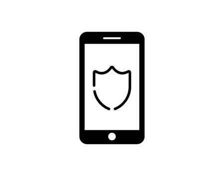 Mobile phone security protection icon  vector image