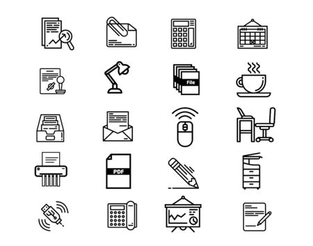Office equipment icon set. Can be used for many purposes.
