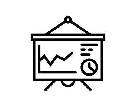 Vector Business Presentation Icon Ilustracja