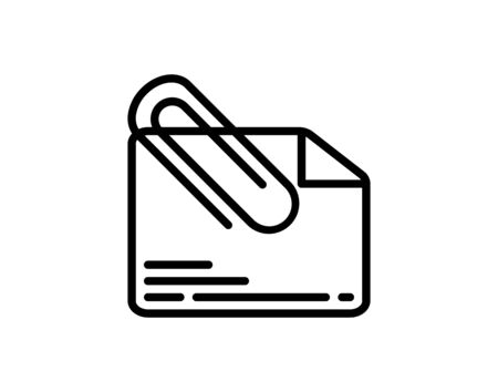 Attach document icon vector image