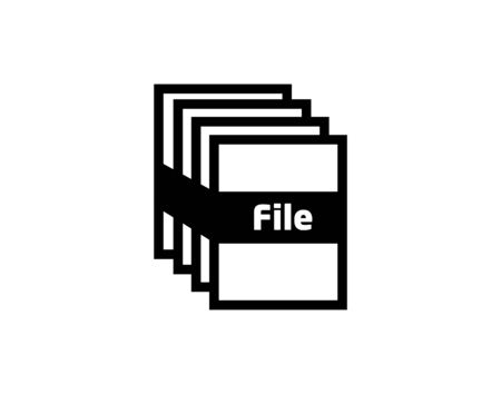 File icon vector isolated on white background, File sign.