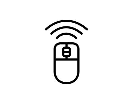 Wireless mouse icon on white background vector image Ilustracja