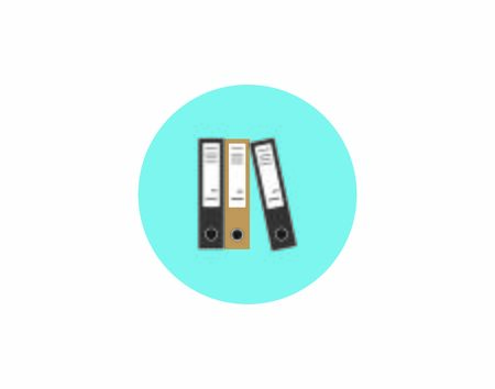 Business color file office folders isolated icons vector image
