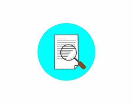 Search File Flat vector Icon