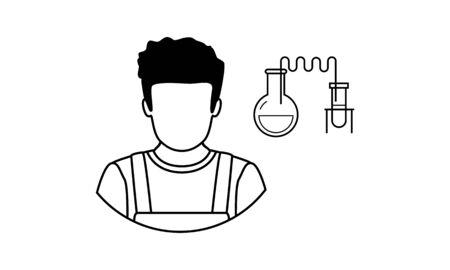 Scientist Vector Avatar Flat Icon